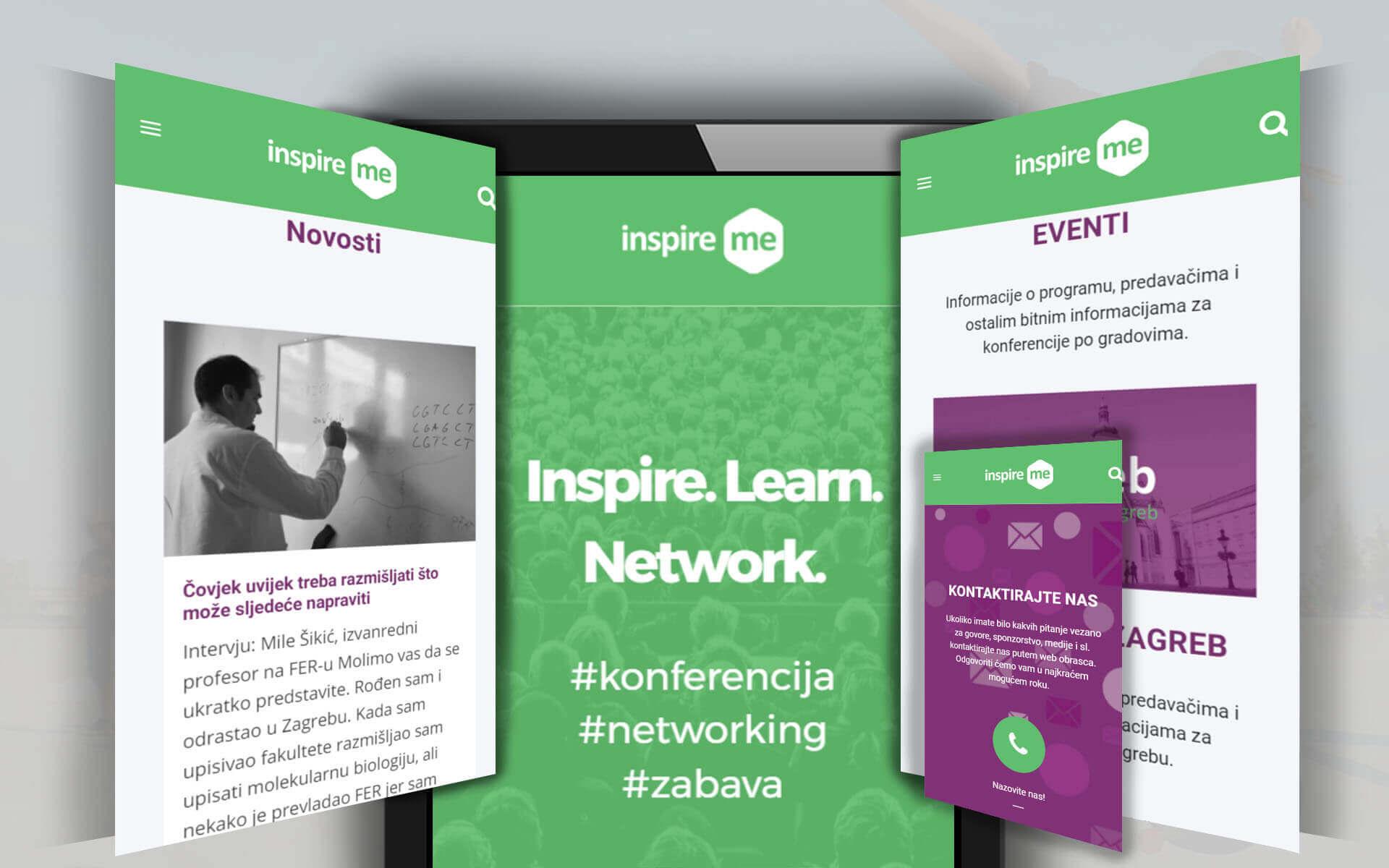 Inspire Me konferencija mobile